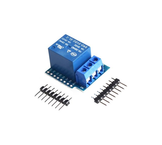 1Set Wemos D1 Mini Relay Shield One Channel Wemos D1 Mini Relay Module For Arduino ESP8266 Development Board Free Shipping