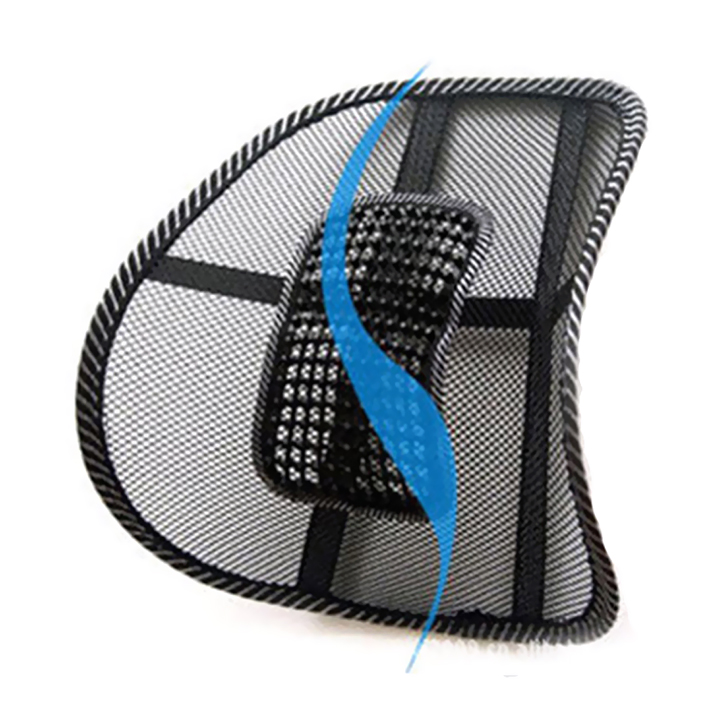 Бесплатная доставка новый автомобиль стул массаж спины поясничной Поддержка сетки Вентиляция Подушки Pad черный cs185