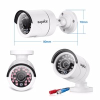 SANNCE 720P HD CCTV Security Camera 1200tvl IR Night Metal Surveillance Camera Indoor Outdoor Weatherproof 1
