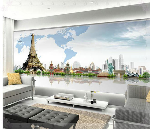 New large wallpaper custom wallpaper 3d architectural world map new large wallpaper custom wallpaper 3d architectural world map mural wall paper papel de parede wall gumiabroncs Image collections