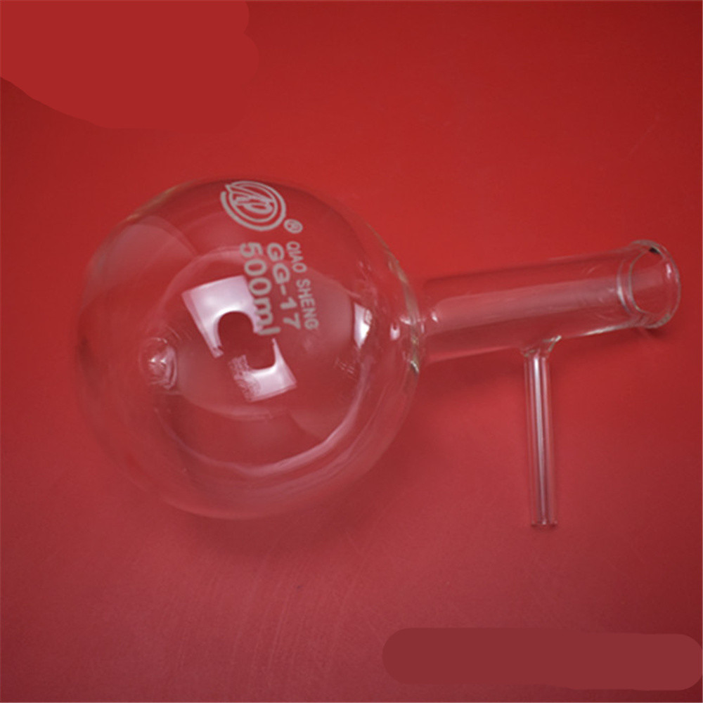 Glass Distillation Flask Laboratory Lab Boiling with Side Arm Laboratory Supplies 60ml 100ml 150ml 250ml 500ml 1000ml 1pc lot 150ml 250ml 500ml round bottom glass distillation flask for lab glassware