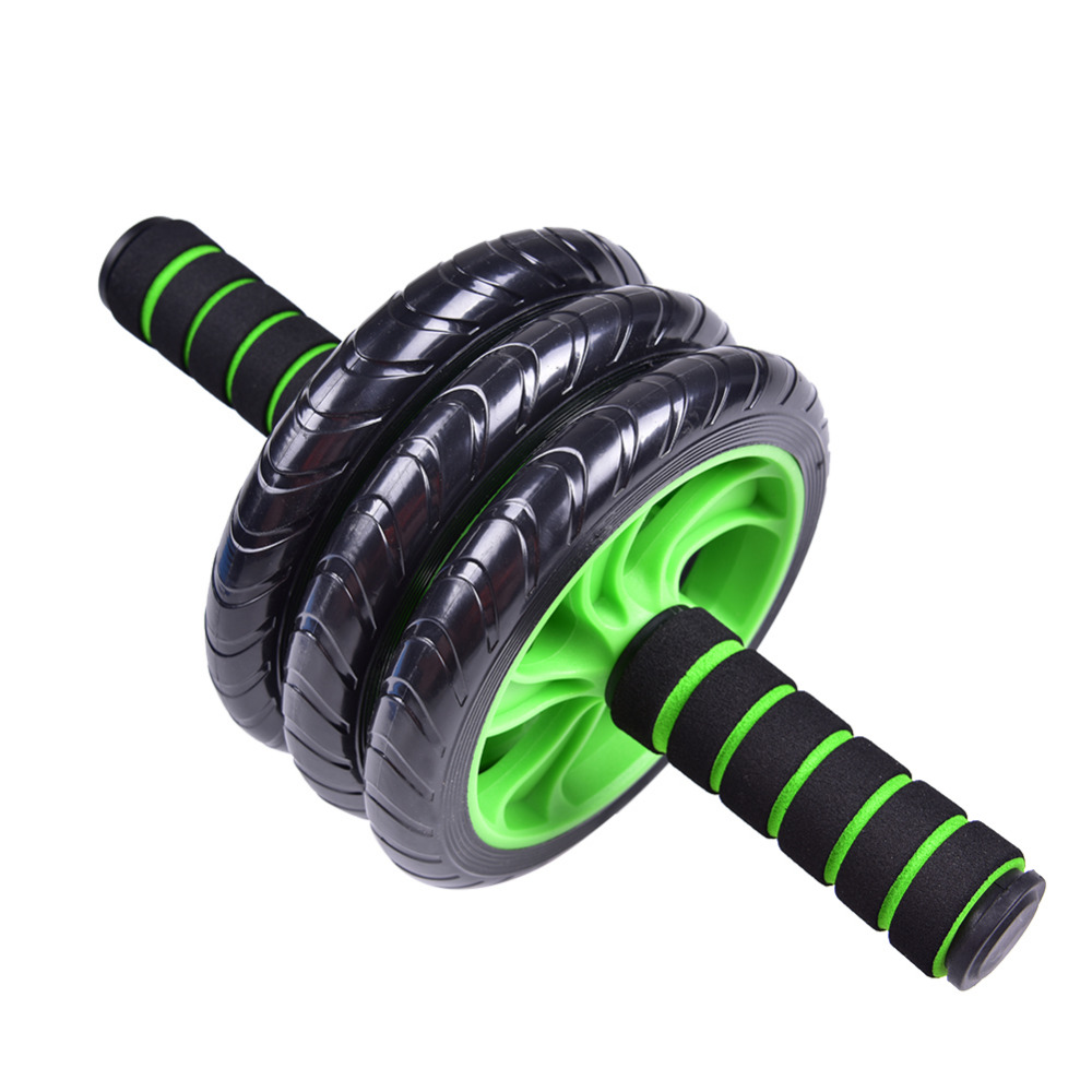 Abdominal Roller ABS wheel for Three-wheel Bearing Roller Female Reduce Belly Exercise Abdomen Muscle Fitness CrossFit