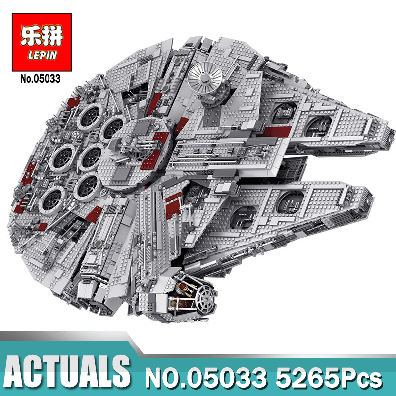 Lepin 05033 Star-Wars 5265Pcs Ultimate Collector's Millennium Toys Falcon Model Compatible 10179 Building Blocks Gift for Child банный комплект softline 05033