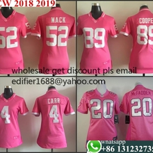 2cc7514c0 100% stitched Women pink love Oakland ladies 4 Derek Carr 20 mcfadden 89  Amari Cooper 52 Khalil Mack Jersey