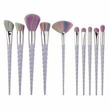 Eyeshadow Brush Set Unicorn Thread 10pcs Superior Professional Soft Cosmetic Make Up Brushes Set Foundation Brush