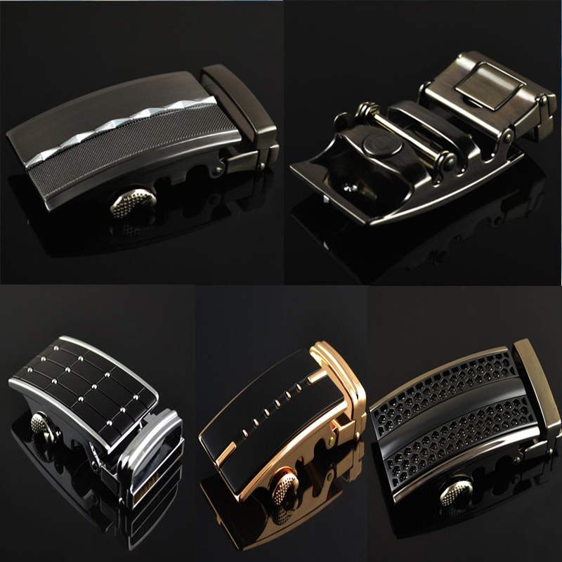 ZPXHYH Fashion Men's Business Alloy Automatic Buckle Unique Men Plaque   Belt   Buckles for 3.5cm Ratchet Men Apparel Accessories g1