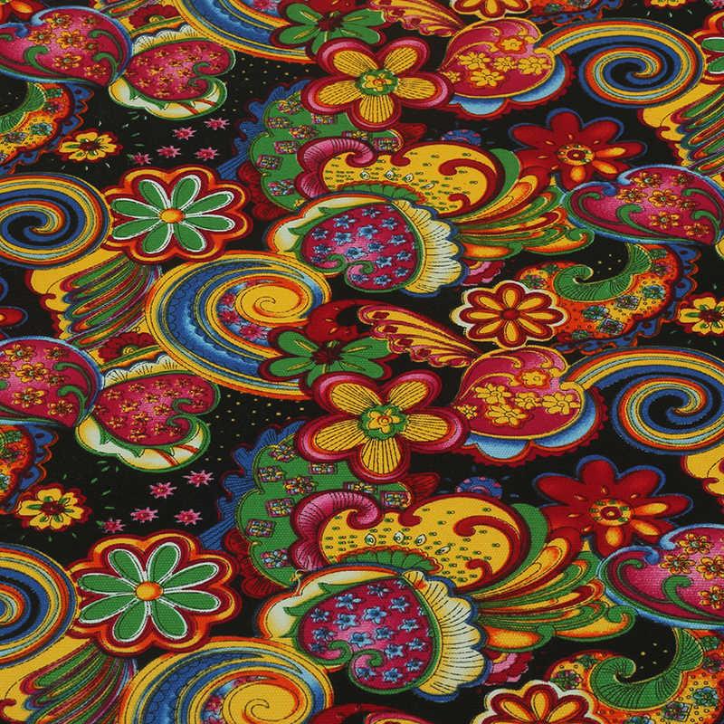 실내 장식 캔버스 패브릭 바느질 Hometextile DIY 수제 커튼 쿠션 가방 신발 실크와 꽃 50x150 센치메터 B1-1-10