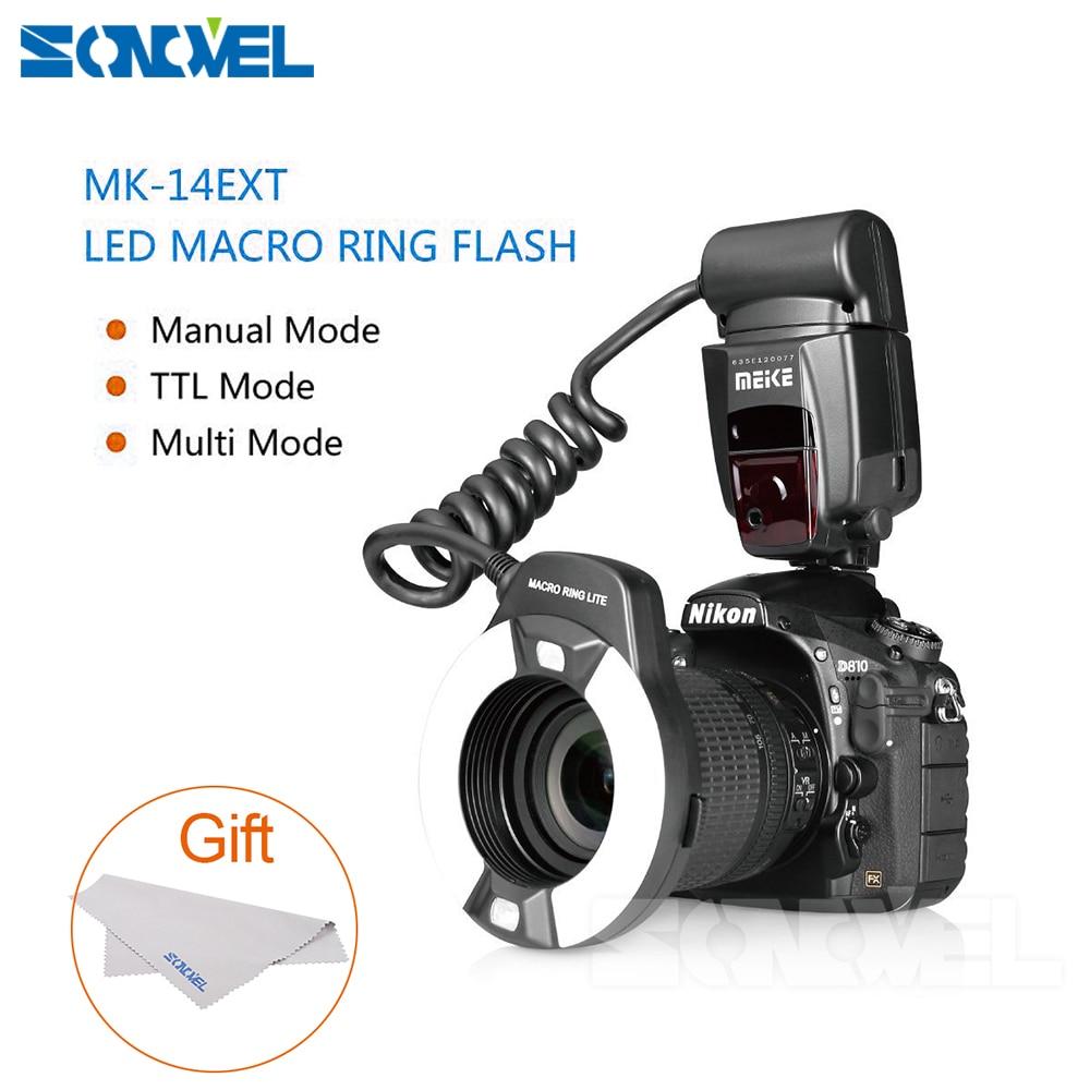 Meike MK-14EXT LED TTL Macro Ring Flash Lite AF I-TTL Assist Lamp For Nikon D7000 D5000 D5100 D3200 D3100 D3000 D3 D800 D700 D2 meke meike mk 14ext macro ttl ring flash for canon e ttl ttl with led af assist lamp