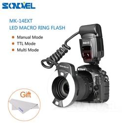 Meike MK-14EXT LED TTL Macro Ring Flash Lite AF I-TTL Assist Lamp For Nikon D7000 D5000 D5100 D3200 D3100 D3000 D3 D800 D700  D2