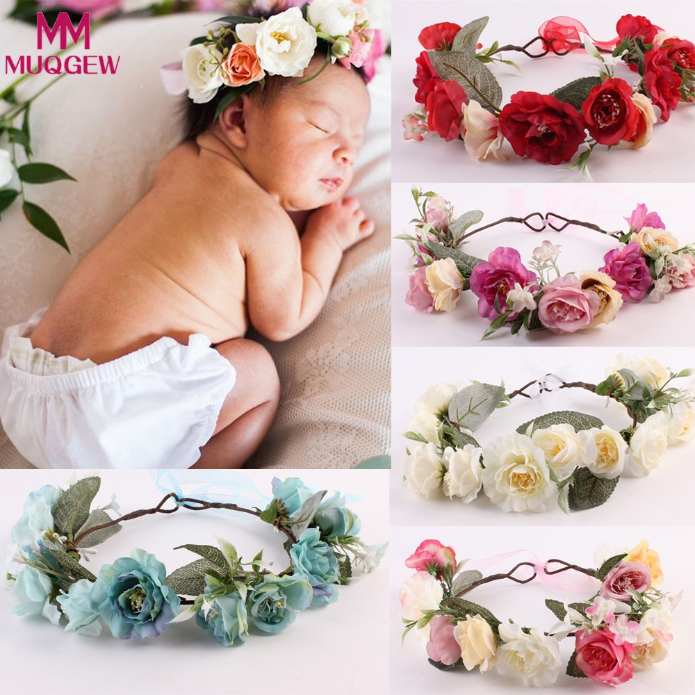 Women Kids Baby Girls Rose Flower Hair Band Headband Headwear Gifts Fashion