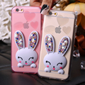 Floveme conejo suave teléfono tpu case para iphone 6 6 s 6 plus 5 5s 7 para samsung s6 s7 edge s4 s5 galaxy note 2 3 4 5 sí