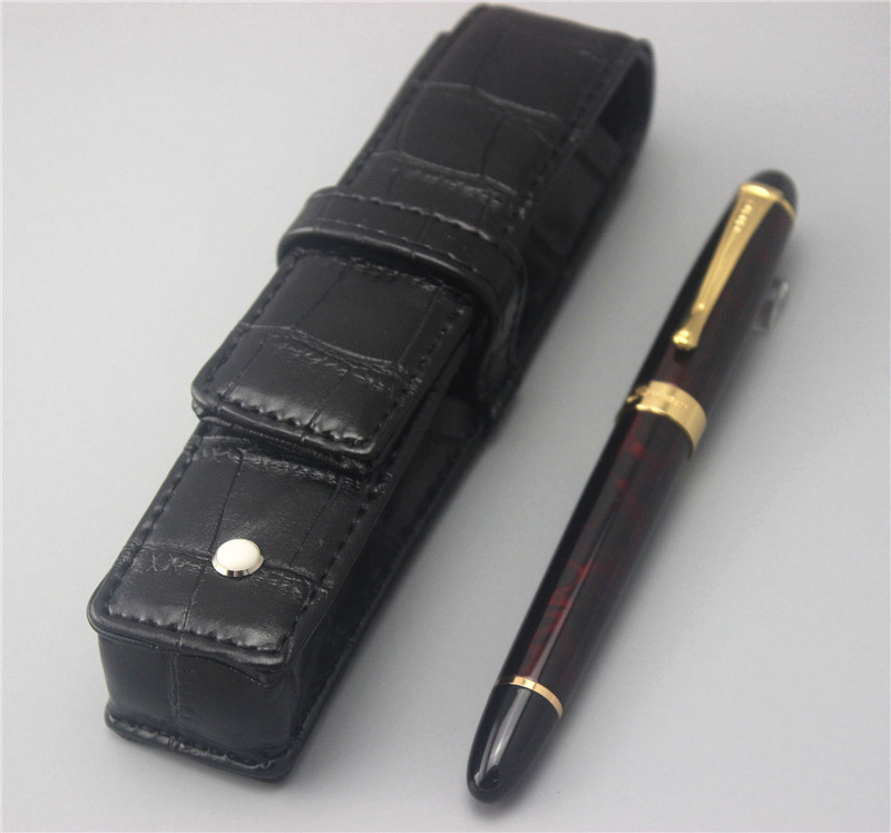 JINHAO new arrival ballpoint Pen and pen bag School Office Stationery luxury roller ball pens men women send a refill 013 luxury jinhao roller ball pen hollow steel golden dragon and phoenix married couple gift