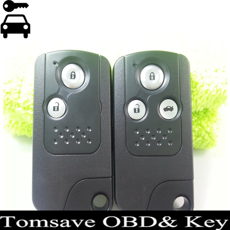 Free Shipping 2 3 Buttons Intelligent Smart Remote Key Card 433MHZ With ID46 Chip For Honda