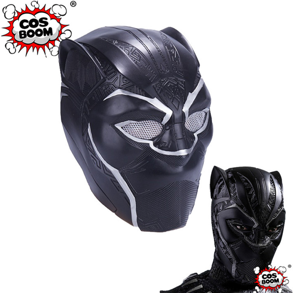 COSBOOM Black Panther Mask PVC 3D Printing Helmet Adult Halloween Carnival Cosplay Props Black Panther 2018 3D Printed Helmet