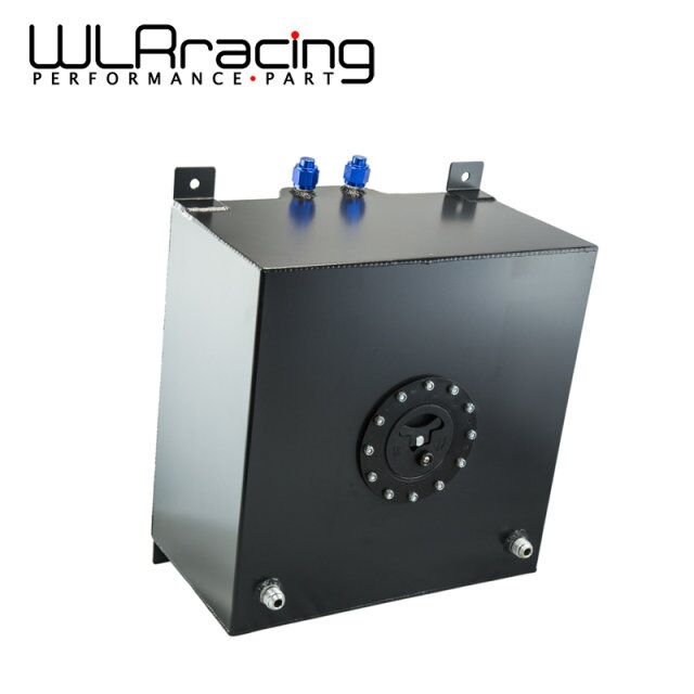 WLR RACING - BLACK Aluminium Fuel Surge tank with Cap/foam inside Fuel cell 40L without sensor WLR-TK21BK wlr racing 30l aluminium fuel surge tank mirror polished fuel cell foam inside without sensor wlr tk67