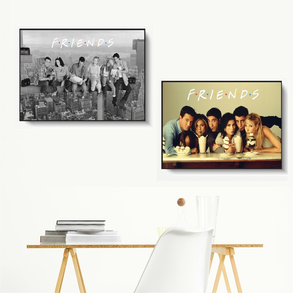 Friends TV Show Classic Quote Posters and Prints Wall art Decorative Picture Canvas Painting For Living Room Home Decor Unframed