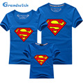 Grandwish 2016 New Summer Family Matching Outfits T-shirt Dad Mom Baby Superman Tees Family Shirts 24M-13T S-5XL, SC128