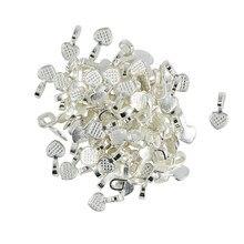 100 peças de cola do coração branco ambiental em iscas pingente de jóias do cabochão achados fabricantes diy