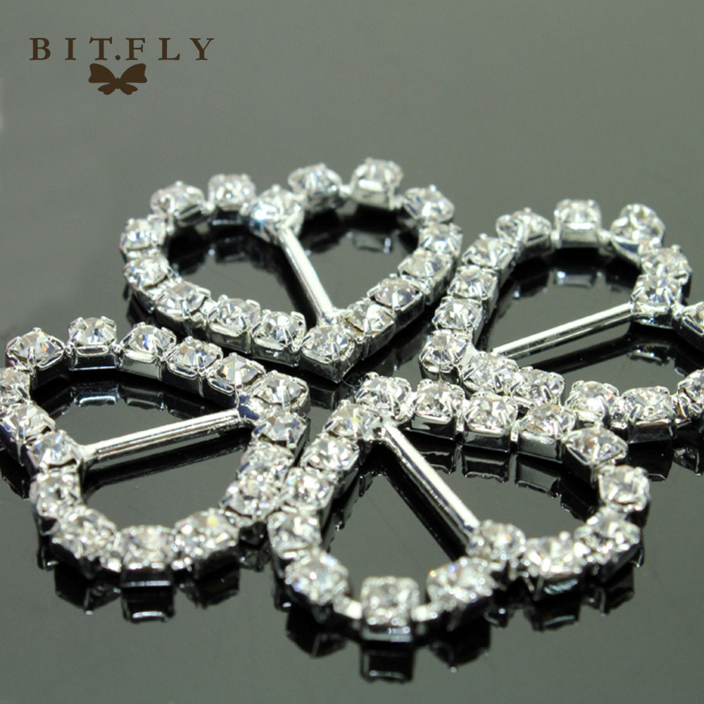 100 шт./лот 12 мм Бар прозрачный горный хрусталь пряжки сердце для приглашение на свадьбу Diamante ленты слайдеры