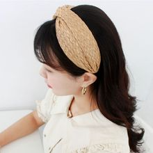 Fashion Women Temperament Straw Headband Wide Side Hairpin Headwear Simple Wild Beauty Hair Accessories Jewelry New Gifts
