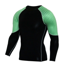 Detector Men Compression Long Sleeves Shirts Bodybuilding Skin Tight Jerseys Exercise Workout Clothings Fitness Sportswear