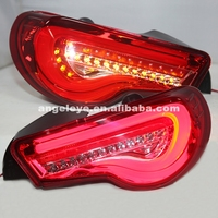 2013 2014 Year For TOYOTA GT86 FT86 Rear Light Led GT86 Back lamp Red Color TW