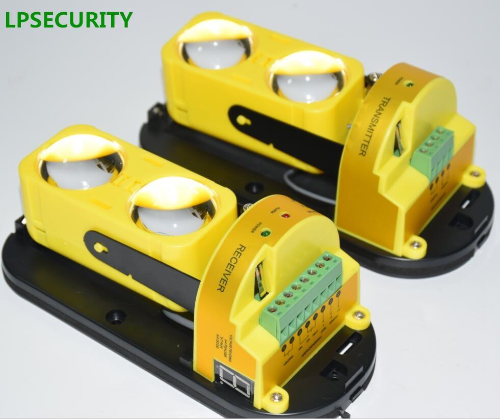 Lpsecurity 100m Outdoor Ir Beam Infrared Barrier Detector Alarm Dual Breaker 2 30 To Led Alignment Active Sensor Perimeter