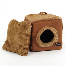 Cube Shaped Suede Bed