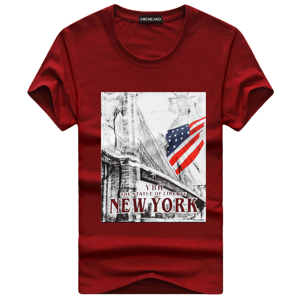 Men 39 s T shirts Fashion American Flag Print Hipster Funny T Shirt Men Summer Casual Street Hip hop Tee Shirt Male Plus Size 5XL in T Shirts from Men 39 s Clothing