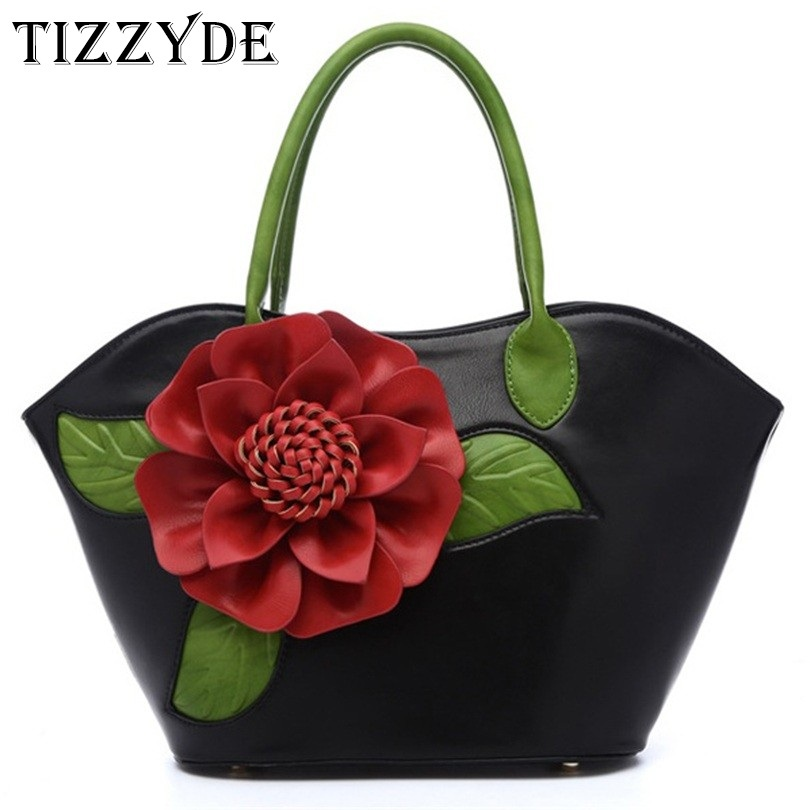 2019 New Women Luxury Handbag Flower Design High Quality Tote Shoulder Bags ladies Famous Brand Design