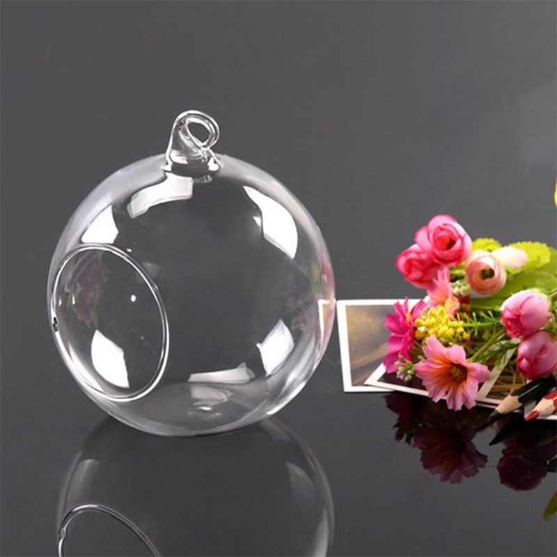 Creative Hanging Glass Ball Vase Flower Plant Pot Terrarium Container Home Office Decor Hanging Glass Vase BDF99