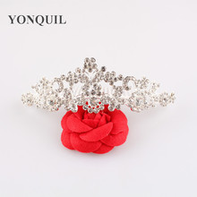 Free Shipping Crystal Bride Hair Accessory Wedding Tiaras And Crown For Sale Rhinestone Pageant Crowns Jewelry 3pcs/lot MYQC013