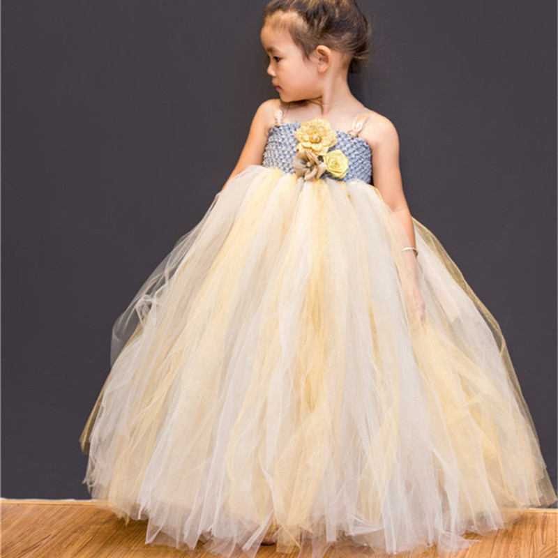 2-14Y Flower Girl Dresses Baby Kids Party Pageant Wedding Dress Tulle Tutu Dress Birthday Princess Ball Gown Children Clothing girls party tutu dress baby princess ball gown costume tulle children dress for kids pageant prom wedding flower girl dresses