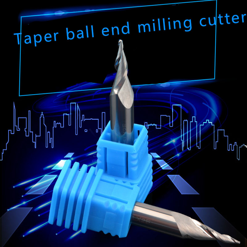 Taper ball end milling cutter, cutter advertising, luminous character, spiral taper knife, Acrylic plastic processing,Hardwood 3 175 12 0 5 40l one flute spiral taper cutter cnc engraving tools one flute spiral bit taper bits