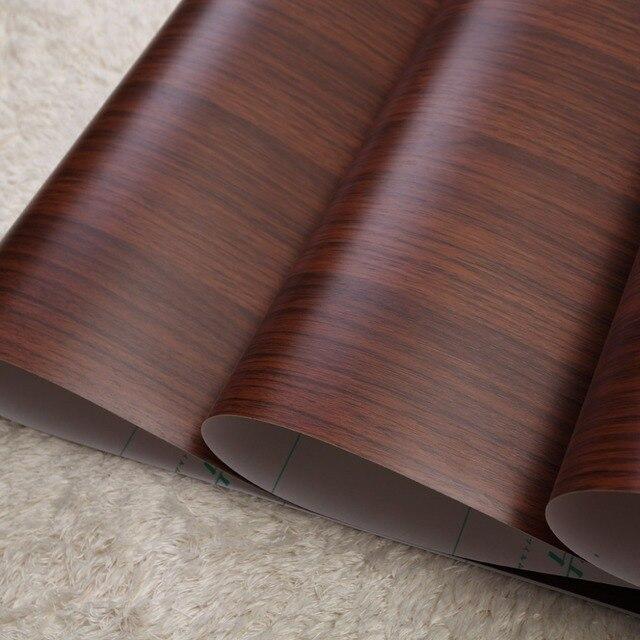 0.6*4M Walnut Wood Texture Refurbished Pvc Furniture Stickers Self Adhesive  Wallpaper Pvc Self