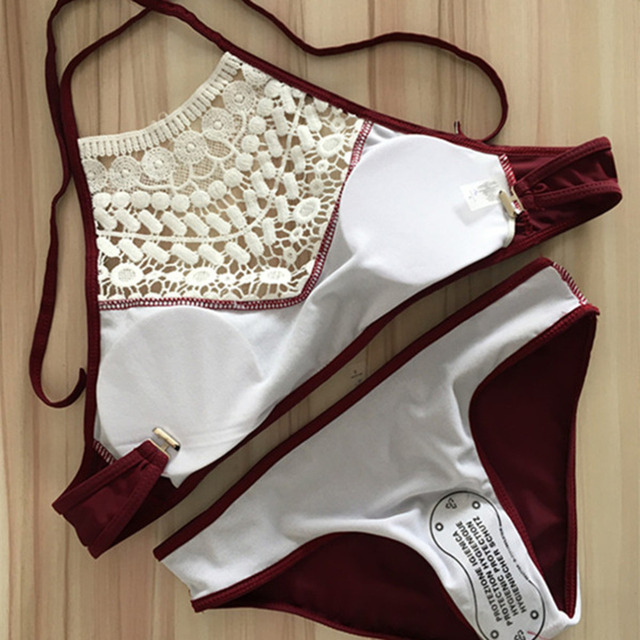 2 Colors Hot Bikini Set Sexy with Lace for Summer Size S-XL