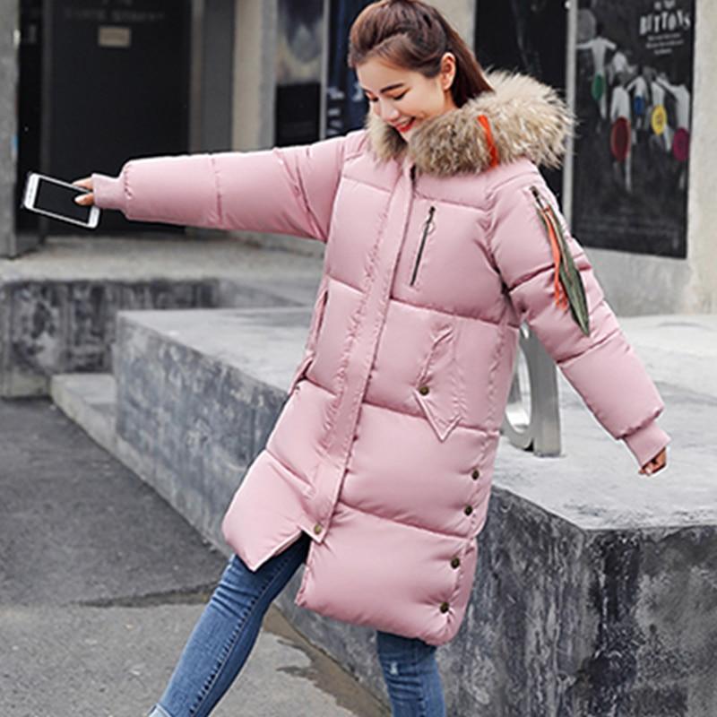 Parkas Taille Rembourré Hiver Survêtement Manteau Nouveaux beige Col Femmes Mode gray pink Coton Grande Épaisse Couleur black Veste 2018 De Ukrainienne Red Fourrure Hs243 Lâche wxqzUITYt