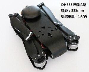 Image 5 - DH335 cuerpo de carreras para Dron, kit de marco, base de rueda, 335mm, FPV, accesorios para modelo a radiocontrol