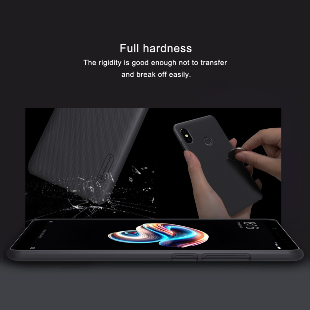 detailed look 642fb 7a9f6 For Xiaomi Redmi Note 5 Pro Case Nillkin Super Frosted PC Hard Plastic Back  Cover For Redmi Note 5 Pro Cover