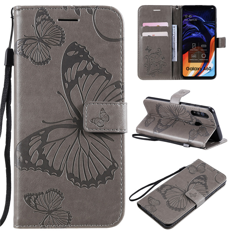 <font><b>A60</b></font> cases flip wallet phone case For <font><b>samsung</b></font> <font><b>galaxy</b></font> <font><b>A60</b></font> <font><b>SM</b></font>-A606F <font><b>A6060</b></font> Cases Luxury casing lanyard Covers with cards slots image