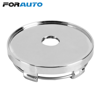 60mm Car Wheel Cover Car-styling No Logo Silver Wheel Center Cap Auto Hubcaps Cover Dust Cover ABS Chrome Tire Accessories image