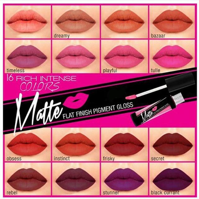 Marca caliente brillo de labios mate colores planos labios pintalabios mate pigmento de lápiz labial resistente al agua cosméticos de maquillaje de larga duración