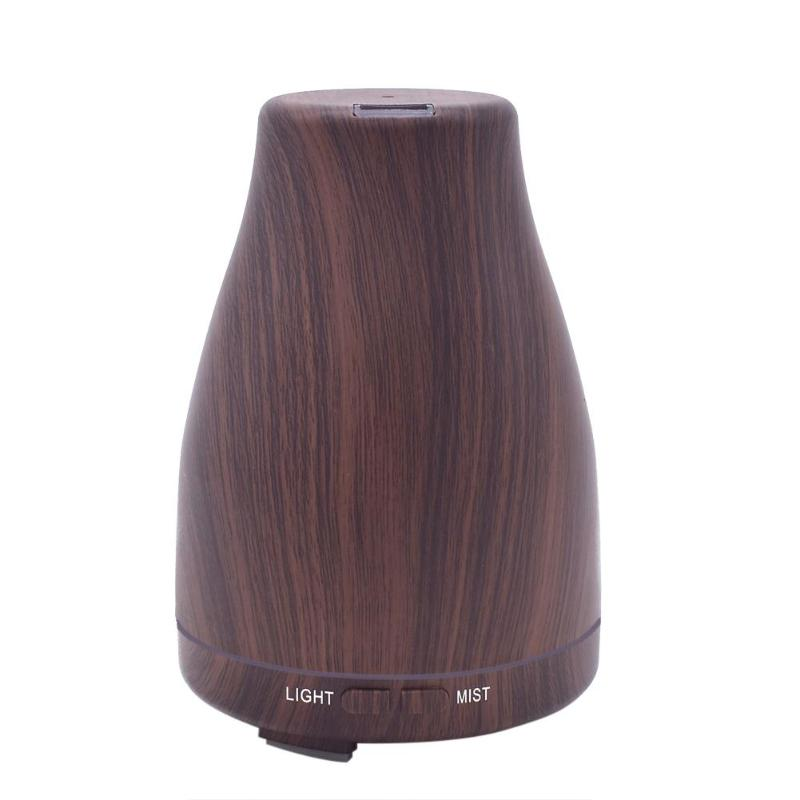 120Mlwooden Air Humidifier Ultrasonic Aromatherapy Mist Fogger LED Aroma Essential Oil Air Diffsuer Aroma Diffuser For Home Use