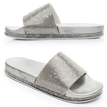 Rhinestone Women Slippers Flip Flops Summer Women Crystal Diamond Bling Beach Slides Sandals Casual Shoes Slip On Slipper rhinestone women slippers flip flops summer women crystal diamond bling beach slides sandals casual shoes slip on slipper