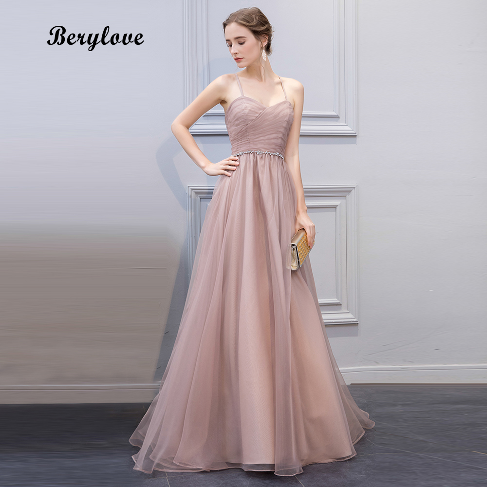 berylove champagne prom dresses 2018 long evening dresses