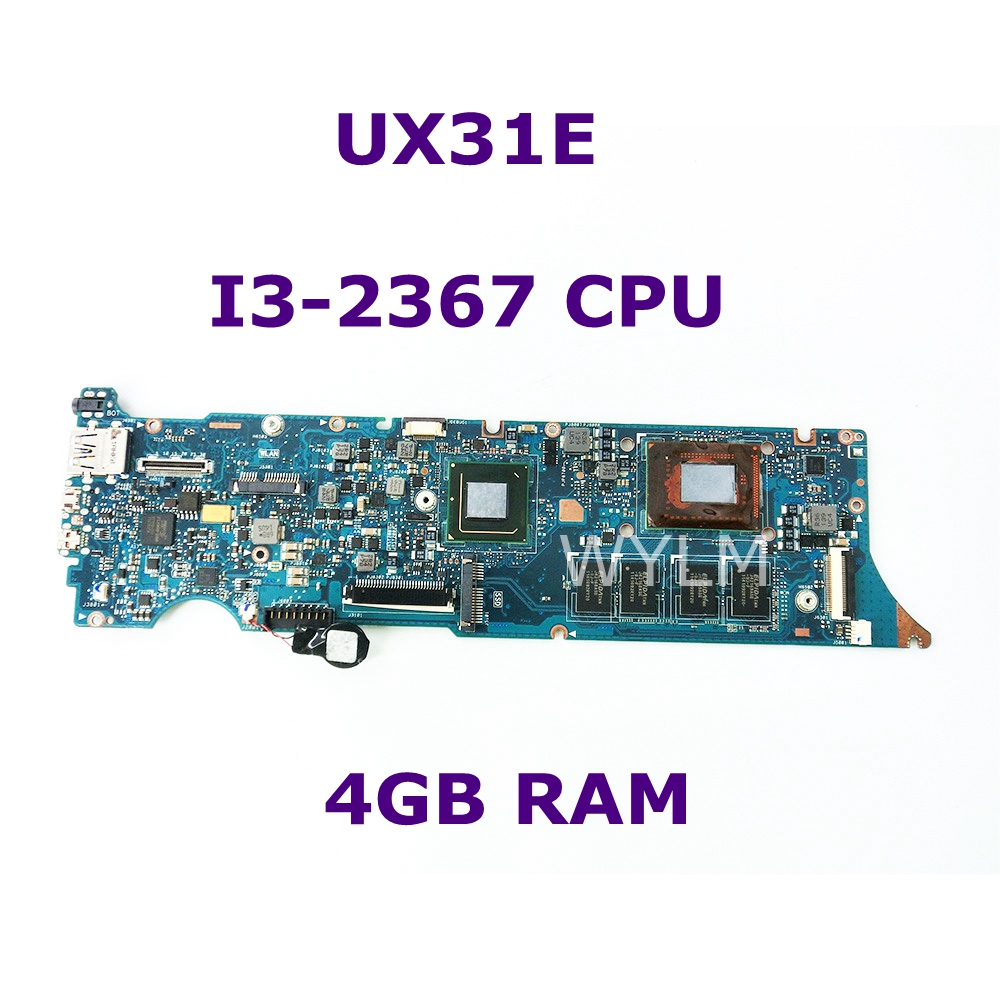 UX31E With i3-2367 CPU 4GB RAM Memory Mainboard For ASUS UX31 UX31E Laptop Motherboard 100% Tested Working Well free shippingUX31E With i3-2367 CPU 4GB RAM Memory Mainboard For ASUS UX31 UX31E Laptop Motherboard 100% Tested Working Well free shipping