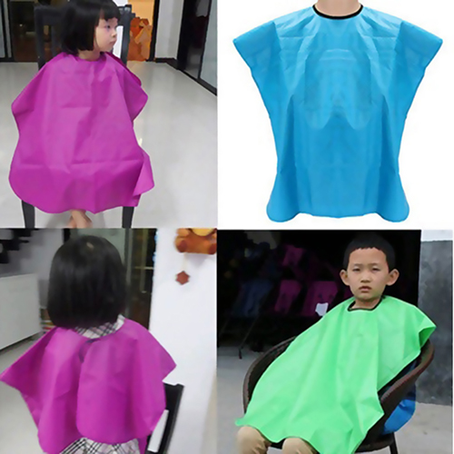 Child Salon Hair Cutting Cape Hairdressing Dress Cape Waterproof Hair Cut Hairdressing Barbers Cape Gown Wai Cloth Fabric Apron