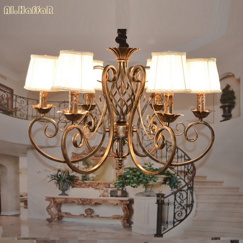 Modern Iron Pendant Chandelier Bedroom Living Room Modern Wrought Iron Lights