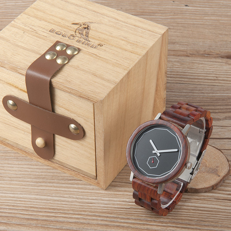 2017 New Arrival BOBO BIRD Watch Men Wooden Watches with Wood Band Quartz Movement Wristwatch relogio masculino B-M29 bobo bird luxury designer watches men style wooden watch wood strap wristwatch with paper gift box relogio masculino brand top