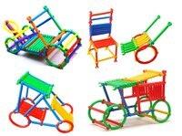 S13455 JingQ Forma Bastão de Plástico Montagem de Blocos de Construção DIY Set Brinquedo Educativo para As Crianças Do Bebê Crianças FS